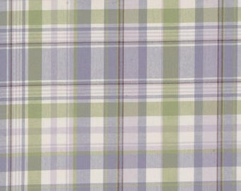 Spring Lavender Plaid Upholstery Fabric