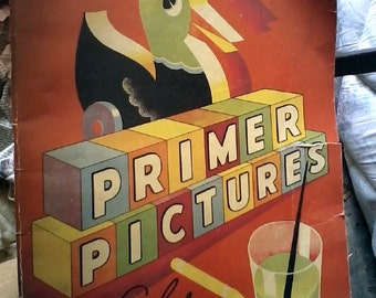 Sale-1934 Whitman Primer Pictures Big Paint & Colorbook