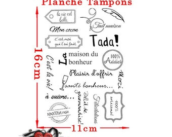 French text stamp made by me. Plate 17 stamps made 100% Addict home...