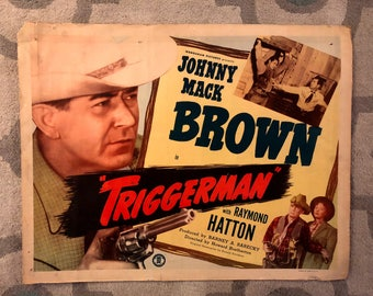 Triggerman (1948) vintage western movie poster