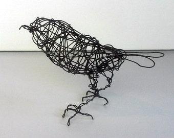 Original Handmade Wire Bird Sculpture - RIVIERA