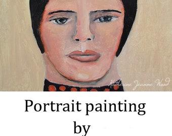 Beehive Hair Oil Portrait Painting. Original Female Portraiture Art. Home Wall Art Decor. Gift for Women. Oil Portrait Wall Decor. Miz Katie