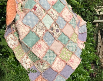 Misty morning rag quilt