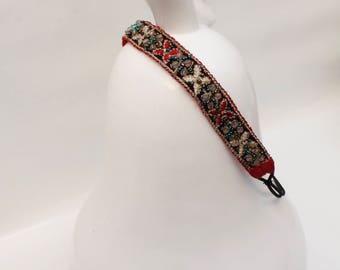 """Artemisia"" glass beaded headband"