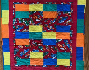 Colorful Baby Quilt 38 X 35