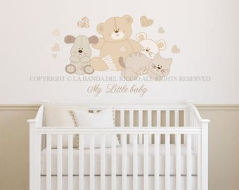 Baby Wall Decal Nursery Stuffed animals Wall Decal Kids Wall Stickers Baby Nursery Decor Children,Stuffed animals