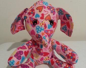 valentine stufffed elephant