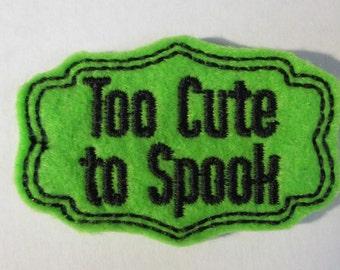Halloween Felt Applique Patches  -Feltie - felt applique embellishment, hair bow center feltie