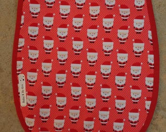 Bib 6-12 months Terry collection Christmas Santa Claus