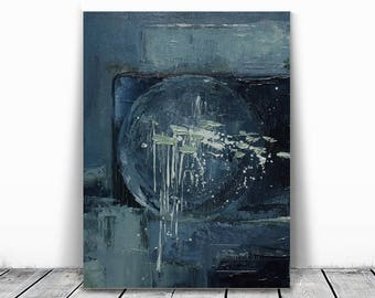 abstract original painting, blue and green art, navy blue, abstract teal, blue, oil on canvas, abstract paintings,