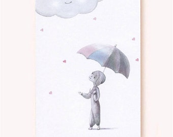 Love Cloud--Whimsical Greeting Card, Eco-friendly