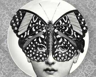 Lina butterfly mask II plate