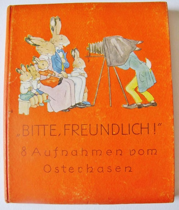 GERMAN CHILDREN Book First Edition, Easter Bunny, 1950, Ida Bohatta