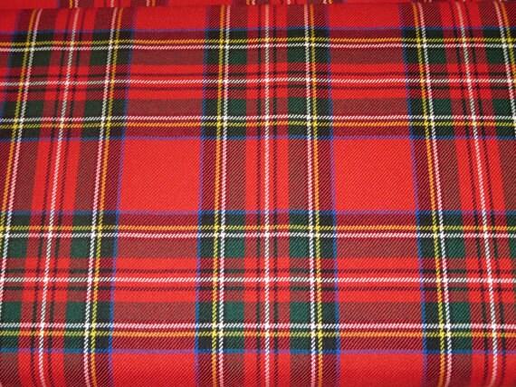 By Yard Royal StewartRoyal Stewart Tartan FabricRed Green