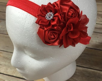Red mini flower headband