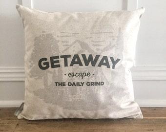 Getaway Cabin Pillow Cover
