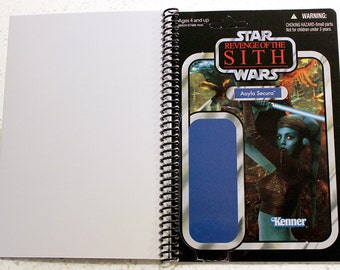 Aayla Secura Recycled Vintage Style Star Wars ROTS Notebook/Journal