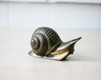 Vintage brass snail figurine brass vintage home decor 70s style