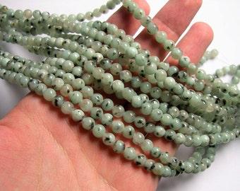 Lotus Jasper - 6 mm round  beads - full strand - 62 beads - Sesame jasper - RFG1211