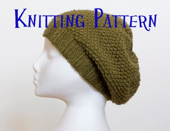 Instant Download Pdf Knitting Pattern Moss Stitch Slouchy