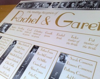 Wedding Table Seating Plan A2 - Supplied digitally by email ready to print