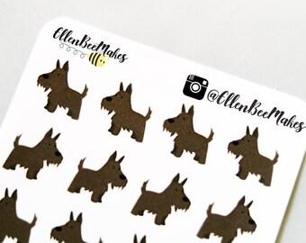 Scottie Dog Decorative Stickers