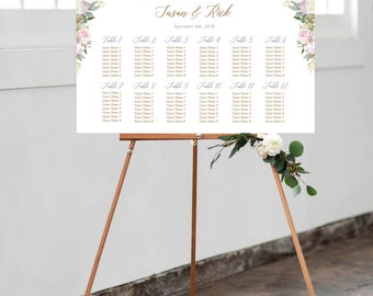 Seating Chart - White Rose & Gold (Style 13806)