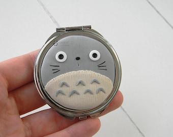 My Neighbor Totoro, Fimo bag mirror, pocket mirrors, Pocket mirror, Ghibli