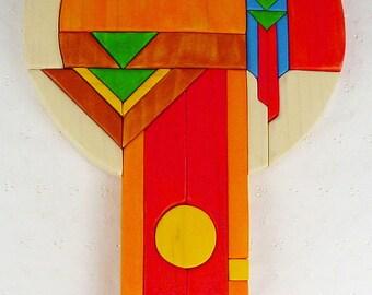 Handcrafted Wooden Intarsia Southwestern Dreamcatcher Wall Art Plaque