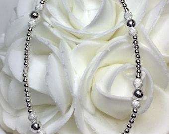 Stretch Bracelet Sterling Silver Stardust