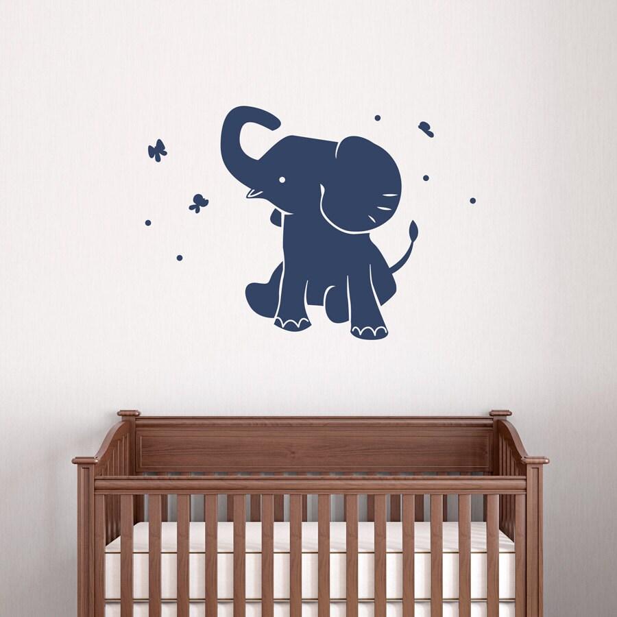 Baby Elephant Wall Decal Vinyl Decal Sticker Elephant Wall