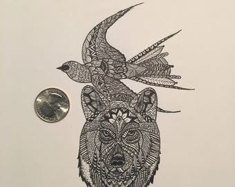 Previously commission piece zentangle