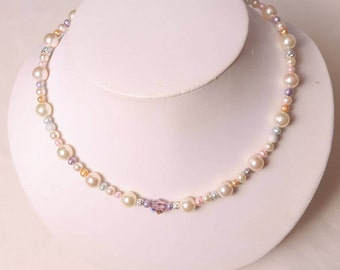 The Grace Swarovski Crystal & Freshwater Pearl Necklace