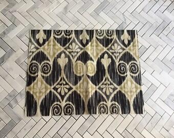 Ikat Cotton Canvas Fabric Remnant