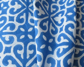 Blue And White Modern Upholstery Fabric