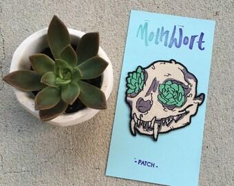 Succulent Cat Skull Patch