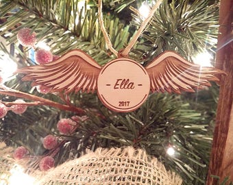Harry Potter Golden Snitch Christmas Ornament - Personalize with a name!