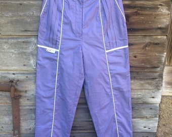 Purple High Waist Pants Vintage 90's Modern Boho Hipster Light Purple Pants Size Medium
