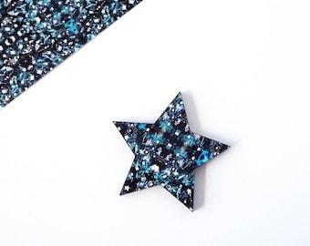 Star Brooch - Wooden Star Brooch - Star Pin - Star Lapel Pin - Star Jewellery - Zodiac Brooch - Pin Flair - Celestial Jewellery - Star Badge