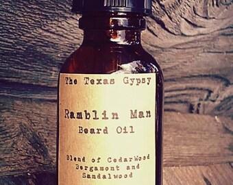 Ramblin Man Beard Oil 1 oz.(Cedar Bergamot)