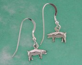 Stock Show Pig Earrings in Sterling Silver, Great Gift for FFA or 4 H