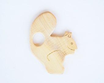 Squirrel Wooden Teether