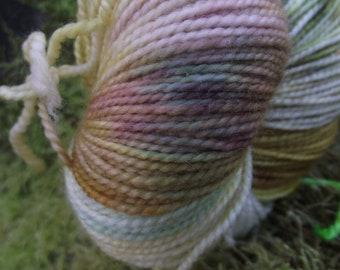 Handpainted sock yarn, fingering yarn, Superwash Merino  Nylon, 100 grams-Goldberry