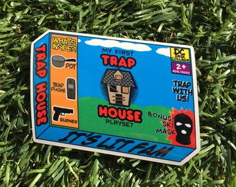Trap House Playset Vinyl Sticker