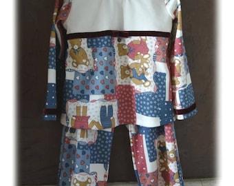 Pajamas 2 piece jersey pattern bears - 4t