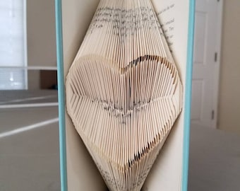 Open Heart Book Folding Art