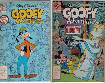 29 Year Old Walt Disney 17 Comic Books Complete Set Goofy Adventures 1 To 1990 Publishing Near Mint Condition 1882a