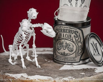Cerberus in a Can 3D Print Taxidermy Poseable Figure