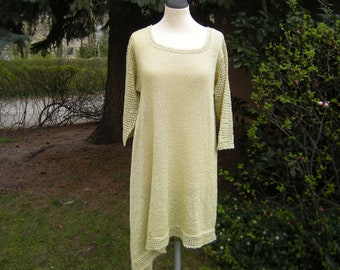 Tunic, dress, knit tunic, asymmetry, Gr. 42-44