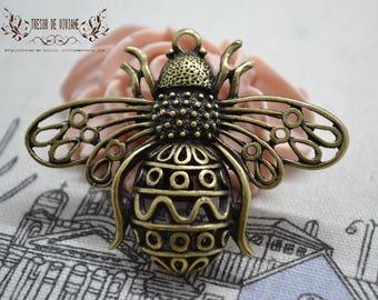 QDW080 pendant, bronze, bee